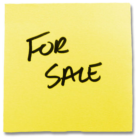 yellow for sale sign
